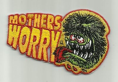 """OFFICIALLY LICENSED ED """"BIG DADDY"""" ROTH RAT FINK MOTHERS WORRY HOT ROD PATCH"""