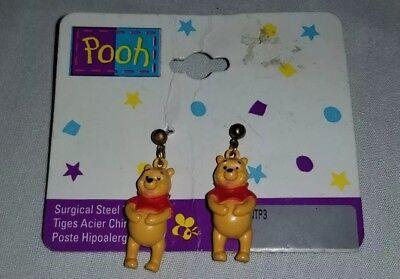 (Disney Winnie the Pooh Bear Dangle Earrings Christmas New )