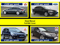 PCO Car Hire / Rent - Mondeo - Insignia - Mitsubishi (£100 per week) Manual Diesel