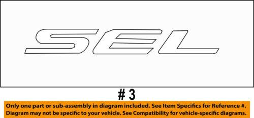 FORD OEM 15-16 Edge Liftgate Tailgate Hatch-Emblem Badge Nameplate FT4Z5842528A