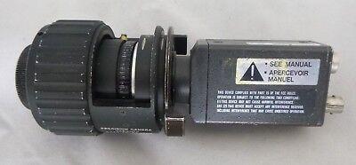 """HITACHI KP-M1U 2/3"""" CCD VIDEO B&W CAMERA W/ PRECISION CAMERA CAN VIDEO LENS"""