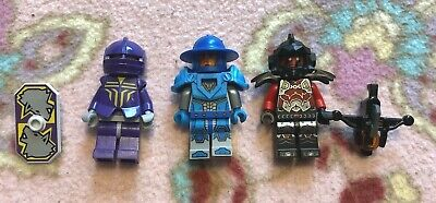 Lot of 3 Lego Knights Kingdom & Nexo Knights from Sets 8777 & 70310