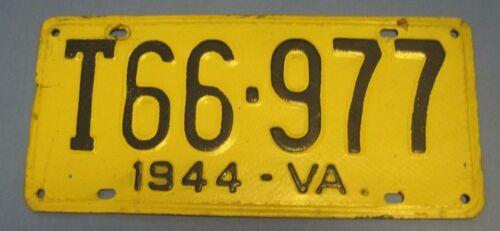 1944 Virginia Fiberboard truck License Plate scarce