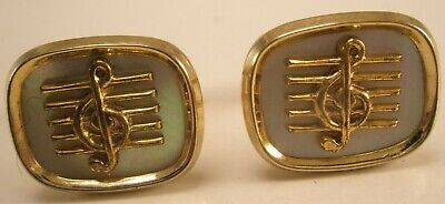 - -Clef Musical Note Vintage ANSON Cuff Links sheet song lyric chord bar beat