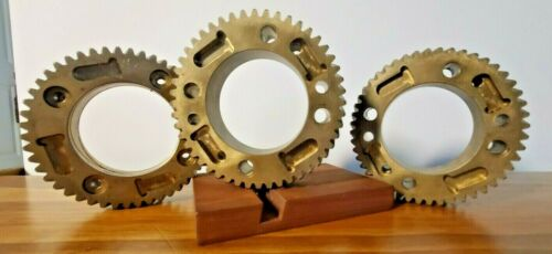 Lot #1: Solid Brass Gears (Quantity 3)