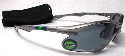 - READ LISTING! Seattle Seahawks XL 3D logo on SILVER Blade Sunglasses! 2 PC SET