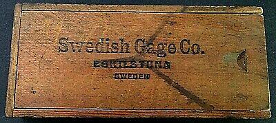 Vintage Swedish Gage Co. Eskils Tuna Sweden Wooden Box Only Wsliding Top
