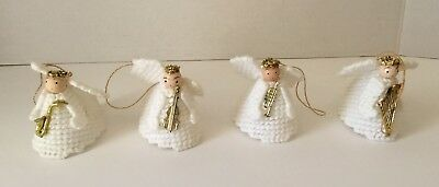 CHRISTMAS ORNAMENTS   ANGELS WITH MUSICAL INSTRUMENTS, SET of 4 - Musical Christmas Ornaments