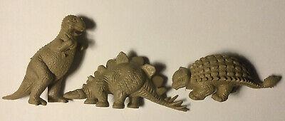 Vintage 1960s original Marx RARE TAN Dinosaur Prehistoric animal Playset group