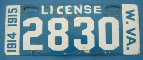1914 1915 West Virginia License Plate