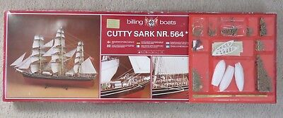 Billing Boats Cutty Sark Nr  564 Wood Model Kit With Fittings Unbuilt Denmark