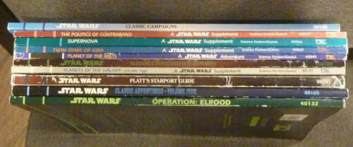 LOT of 10 West End Games WEG Star Wars RPG Books Campaigns Advantures Guides