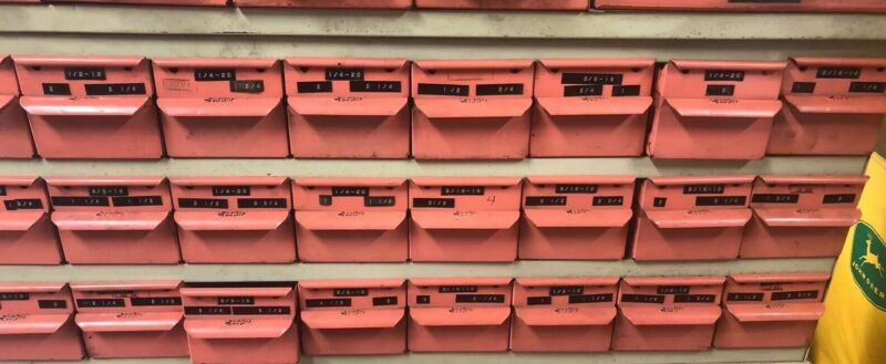 Vintage Equipto 24 Drawer Organizer Metal Industrial Cabinet