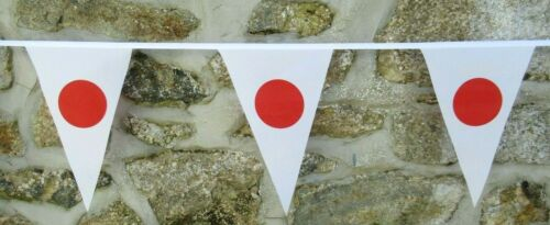 Japan Flag Polyester Bunting - Various Lengths