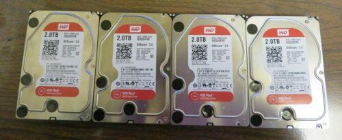 Lot of 4 x Western Digital WD20EFRX 2TB 3.5 Desktop NAS Server SATA HDD Tested