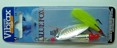 BLUE FOX SALMON SPINNERS SUPER VIBRAX STEELHEAD TROUT  EAGLE CLAW  HOOKS 3/8 #4