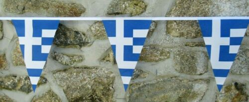 Greece Flag Polyester Bunting - Various Lengths
