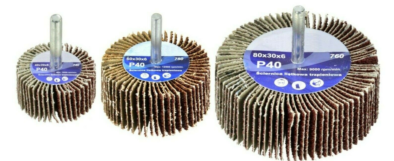 Lamellenschleifer Schleifmop P40 / P100 Schleifmittel Schleifscheiben Körnung