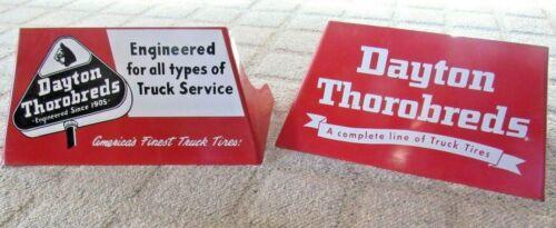 Rare Size Vintage Dayton Thorobreds Truck Tire Display Rack Stand Sign  NICE!