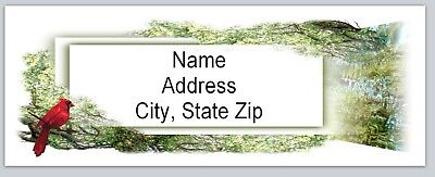 Personalized Address Labels Forest Theme Cardinal Buy 3 Get 1 Free Bx 493