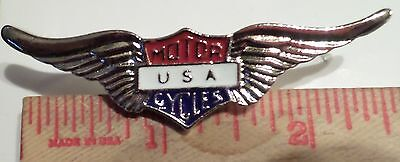 USA Harley motorcycle wing pin collectible old memorabilia biker vest pinback