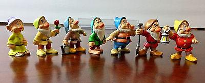 Vintage Disney's Snow White & The Seven Dwarfs 7 Figure Lot PVC Cake Topper Set