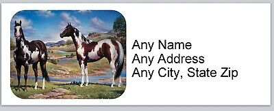 Personalized Address Labels Western Paint Horses Buy 3 Get 1 Free Ac 665