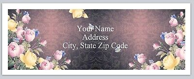 Personalized Address Labels Beautiful Roses Butterflies Buy3 Get1 Free Bx 148