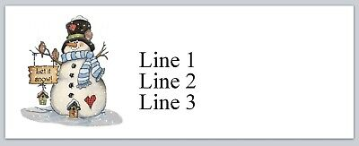 Personalized Address Labels Christmas Snowman Buy 3 Get 1 Free Jx 119