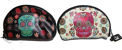 Sugar Skull, Day of The Dead, Makeup pouch, Cosmetic Bag with Strap, Mothers - Sugar Skull Makeup