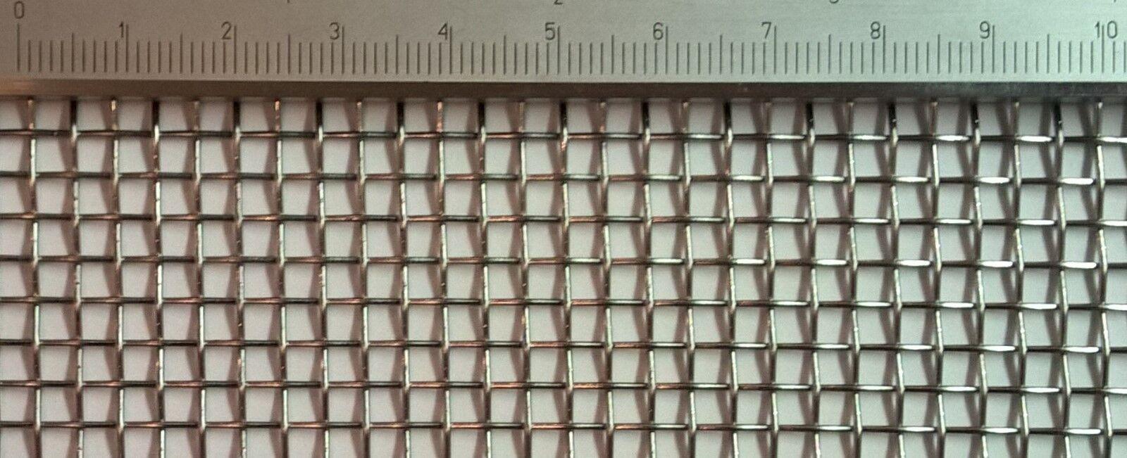 Edelstahl Drahtgewebe mit  3,1mm Maschenweite, 0,8mm Drahtstärke, 30cm x 30cm
