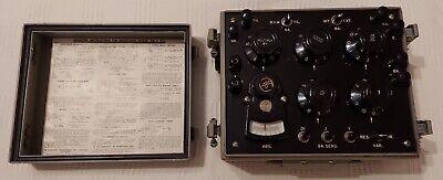 Excellent Vintage Working Us Military Zm-4 Bu Resistance Bridge W Instructions