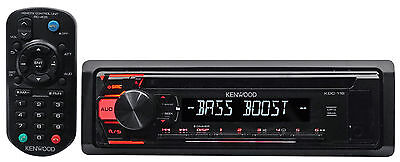 Kenwood KDC-118 Single-Din In-Dash CD Receiver w/Aux/Mp3/WMA, 3-Band Eq+Remote