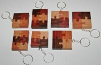 Wood Puzzle Key Chains