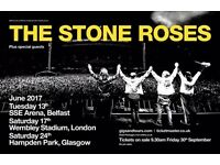 Stone Roses Glasgow Hampden Standing Ticket