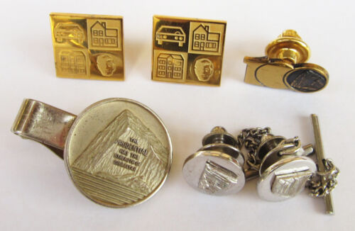 PRUDENTIAL FINANCIAL Insurance Company Service Award Jewelry Lot Pins & Tie Bar