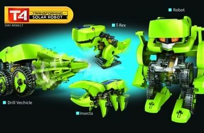 OWI T4 Transforming Solar Robot Kit Sun Powered Renewable Energy Toy