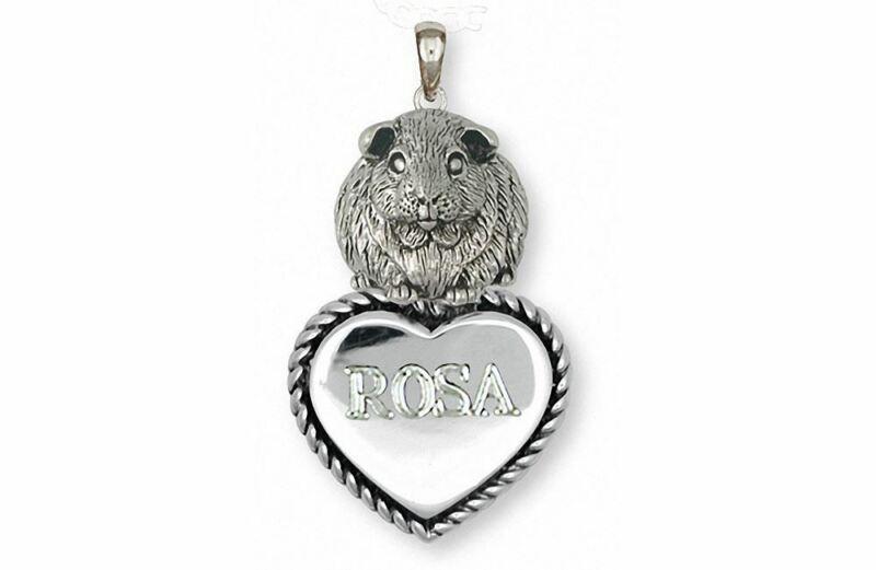 Guinea Pig Pendant Jewelry Sterling Silver Handmade Piggie Pendant GP12X-TP