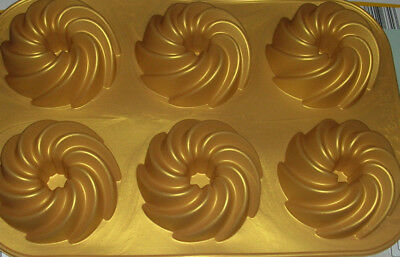 Silikon Muffinform  Gugelhupf  Backform  6er  Minikuchen   Mini-muffin-form