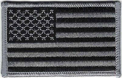 Urban Black Gray Grey United States US Flag Patch VELCRO® BRAND Hook Fastener