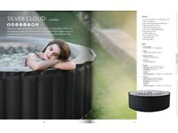 Hot Tub Inflatable NEW BOXED Mpsa Sivler cloud 4 bather