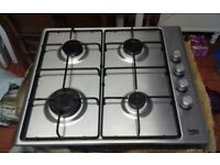 4 ring Gas Hob 1 year old good clean working condition.