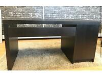 Black/Brown Wooden Desk