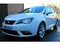 Seat Ibiza 1.4, Toca 5dr, 2014, White, Immaculate Condition