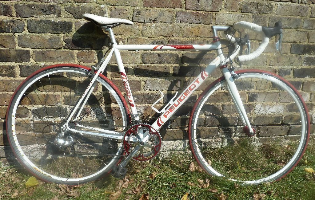 vintage peugeot competition cp10 road bike with columbus tubes