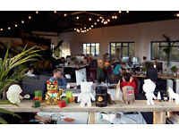 Desk space in bright warehouse overlooking the canal in Hackney Wick