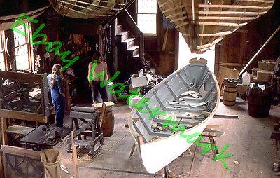 9 pc Lot Wooden/Wood Boat Builders in Portland, Maine 1975 Kodak 35mm Slides