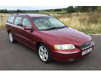 REDUCED Volvo V70 2.4 SE Auto Metallic Red Cream Leather interior FSH Mot Dec 2018 LOVELY EXAMPLE !