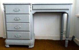 Shabby Chic Writing Desk / Dressing Table - Grey