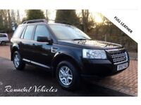 LAND ROVER FREELANDER 2 TD4 S; BLACK , BLACK LEATHER MOT AUGUST 135K, HIST, AMAZING VALUE 4X4 !!!!